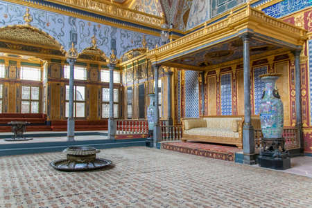 Istanbul, Turkey - main residence and administrative headquarters of the Ottoman sultans, the Topkapi Palace is one of the main landmarks in Istanbul. Here in particular its interiors