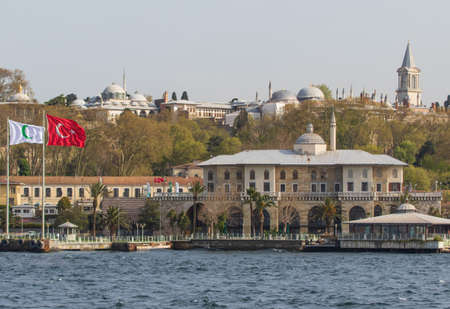 Istanbul, Turkey - main residence and administrative headquarters of the Ottoman sultans, the Topkapi Palace is one of the main landmarks in Istanbul. Here in particular its shape