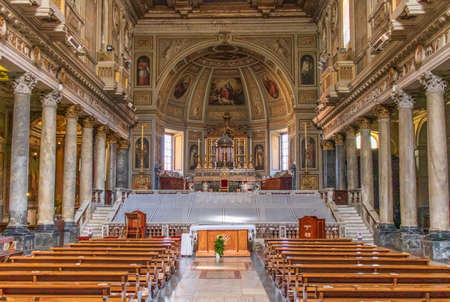 Rome, Italy - home of the Vatican and main center of Catholicism, Rome displays dozens of historical, wonderful churches. Here in particular the San Martino ai Monti basilica Publikacyjne