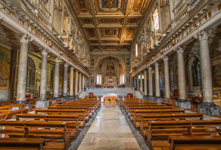 Rome, Italy - home of the Vatican and main center of Catholicism, Rome displays dozens of historical, wonderful churches. Here in particular the San Martino ai Monti basilica Editorial