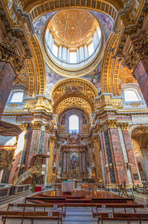 Rome, Italy - home of the Vatican and main center of Catholicism, Rome displays dozens of historical, wonderful churches. Here in particular the San Carlo al Corso basilica