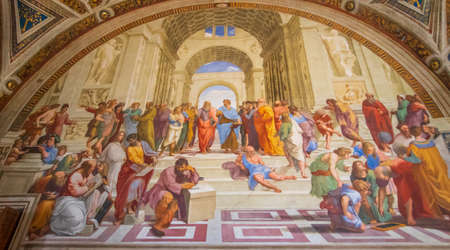Vatican City, Vatican - the Vatican Museums are an immense collection amassed by the Catholic Church throughout the centuries. Here in particular the Raphael Rooms