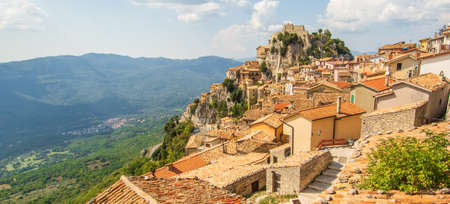 Cervara di Roma, Italy - one of the most picturesque villages of the Apennine Mountains, Cervara lies around 1000 above the sea level, watching the Aniene river valley from the top