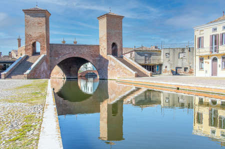 Comacchio, Italy - often compared to Venice for the canals and the architecture, Comacchio displays one of the most characteristic old towns in Emilia Romagna
