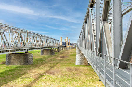 Tczew, Poland - built in 1851 and destroyed several times during WWII, the bridges on the Vistula River are the main landmark in Tczew and among the most famous bridges in Poland