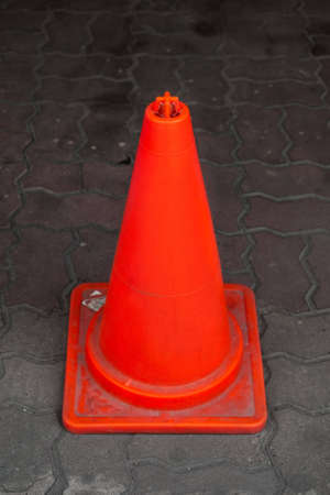 straight view of traffic cone pylon Stock Photo - 13276458