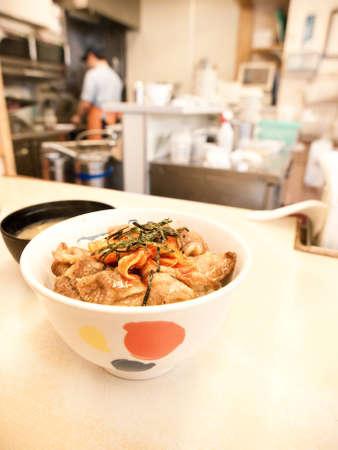 japanese gyudon beef rice bowl