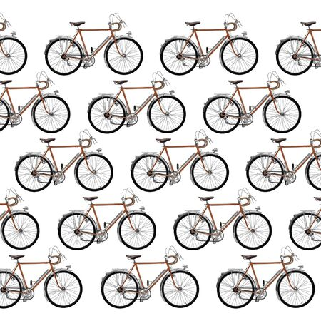 bike chain: Vintage touring bicycle pattern