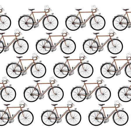 Vintage touring bicycle pattern