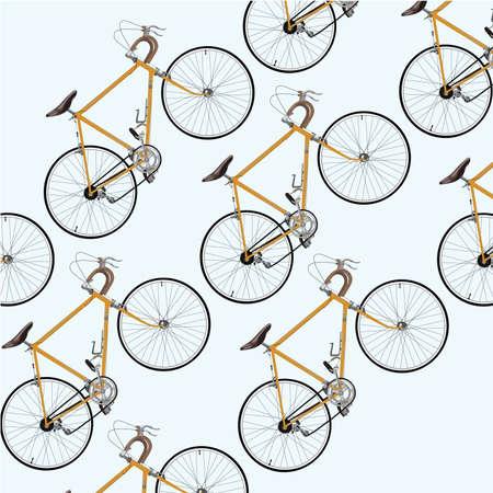 Modern touring bicycle pattern Illustration