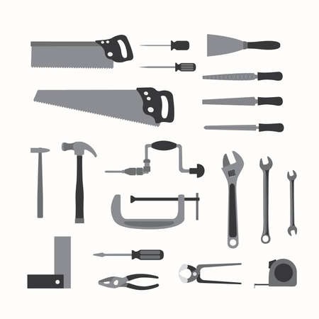 Basic hand tools Stock Vector - 16493889