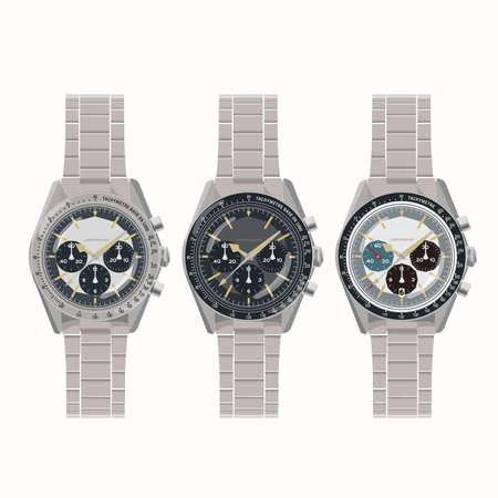 cronografo: Reloj cron�grafo vintage Vectores