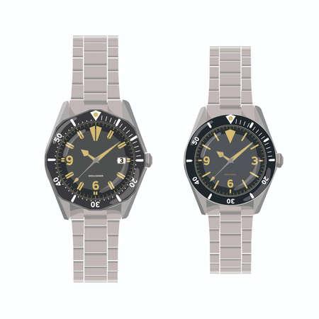Vintage diver wristwatch