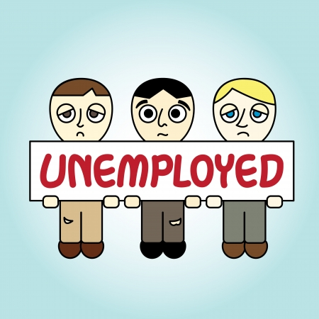 People with Unemployed banner Stock Vector - 16854381