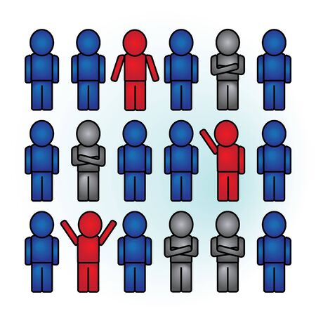impartiality: Group of people with different opinions