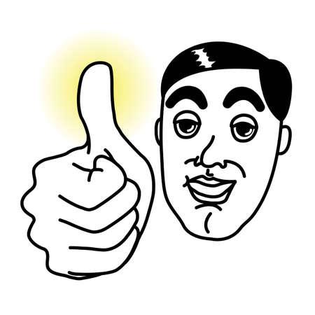 Man with Thumb up  Illustration