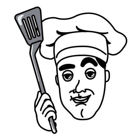 Chef with a cooking flipper