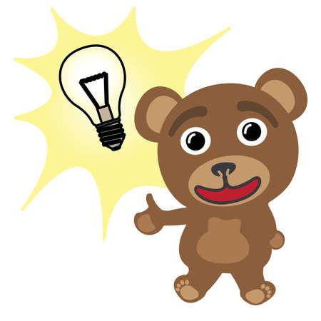Little bear bright idea Stock Vector - 17162061