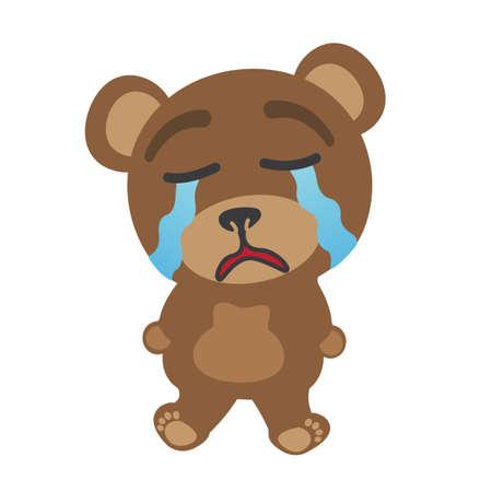 Little bear crying Stock Vector - 17162050