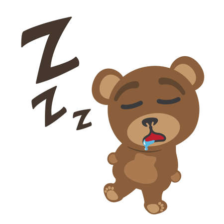 Little bear sleeping Stock Vector - 17162055