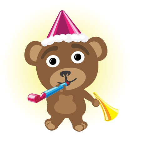 Little bear in party Stock Vector - 17162060