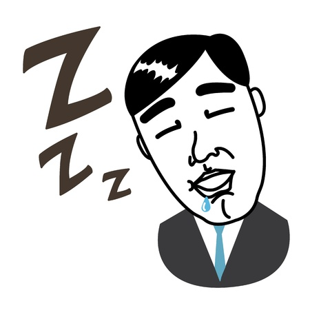 Business man taking a nap Stock Vector - 17162069