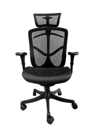 mesh: Ergonomic mesh office chair on white background (Front)