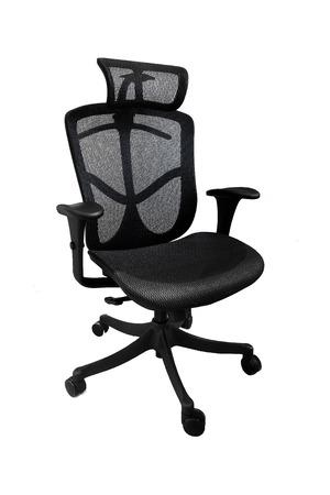 mesh: Ergonomic mesh office chair on white background (left tilt)