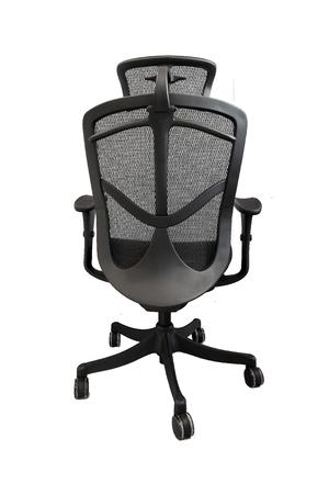 mesh: Ergonomic mesh office chair on white background back Stock Photo