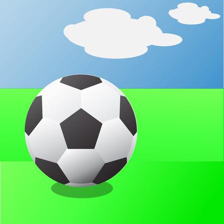 The beauty of football Stock Illustratie