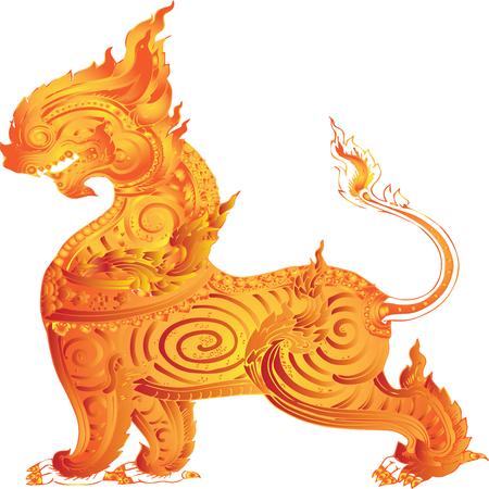 lion in Thai literature