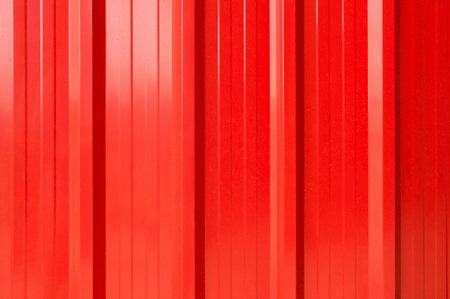 Abstract Texture Background of Red Striped Galvanize or Aluminum