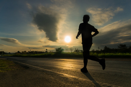People Running for Health in Sunshine morning as Marathon Athlete Healthy Activity Concept. 免版税图像