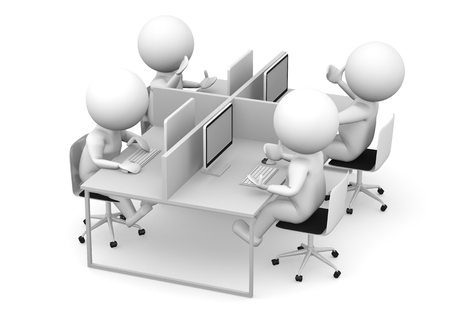 communication cartoon: business people team Stock Photo