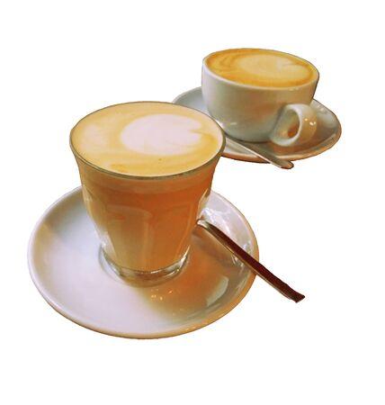 Coffee latte,latte art,latte macchiato