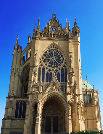Cathedral of Saint Stephen of Metz Stock Photo
