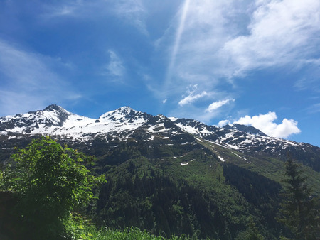 The Alps are the highest and most extensive mountain range system that lies entirely in Europe
