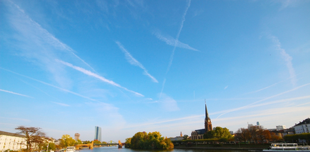View of Frankfurt am Main, Germany Stock Photo