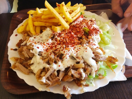 Kebabs are various cooked meat dishes, with their origins in Middle Eastern cuisine. Many variants are popular throughout Asia, and around the world.