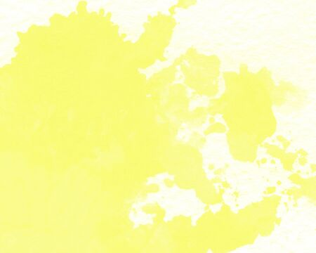 Yellow abstract watercolor texture background. watercolor wallpaper Archivio Fotografico