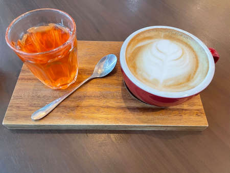 Hot coffee latte macchiato Standard-Bild
