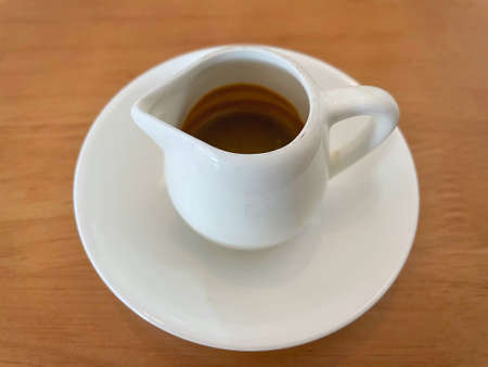 A cup of espresso, Coffee in the morning