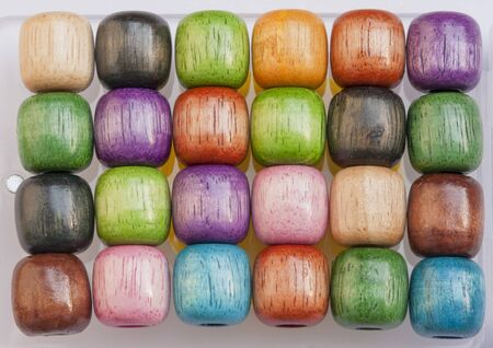 Colourful wooden beads big size product from Thailand photo