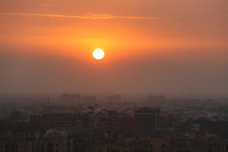 Sunset in New Delhi 版權商用圖片