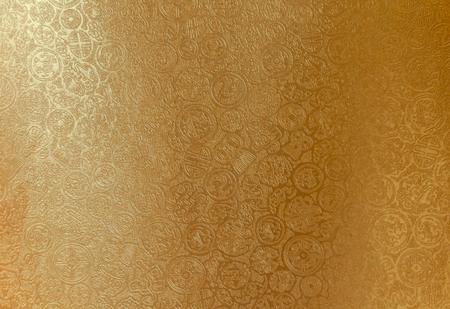 Shiny gole Chinese pattern paper