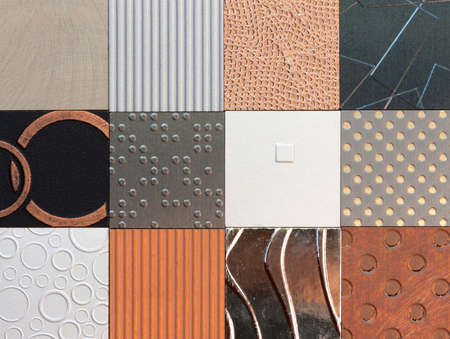 Wall pattern collection with different style of texture and pattern photo