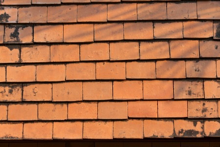 red clay: Red clay roof tile background