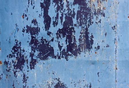 metal gate: Old blue metal gate textu