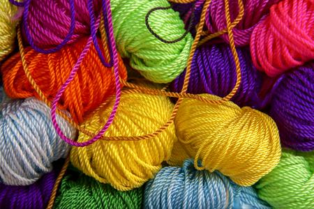 Colourful nylon rope background Standard-Bild