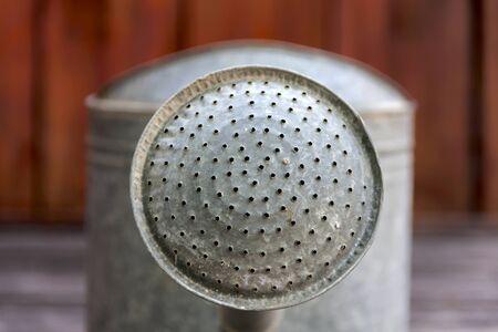 watering pot: Closeup metal watering pot head